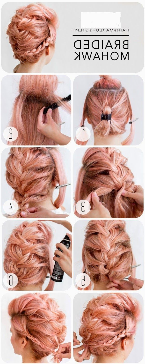 Most Recently Released Glamorous Mohawk Updo Hairstyles With Braided Mohawk – This Is A Hairstyle That Works On Not Only Long (View 15 of 20)
