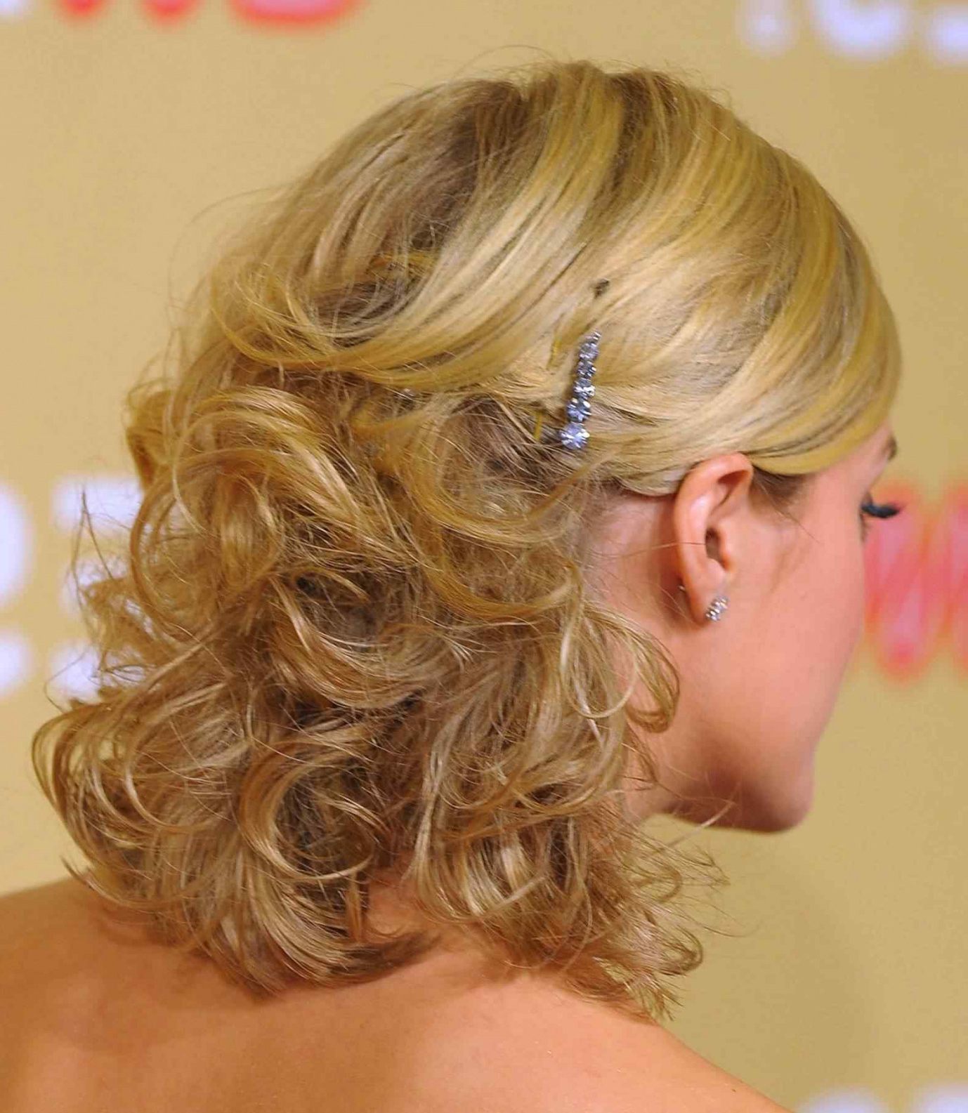 Most Recently Released Half Up Half Down Medium Hairstyles With Regard To Wedding Hairstyles Half Up Half Down Medium Length Curls Lovely (View 12 of 20)