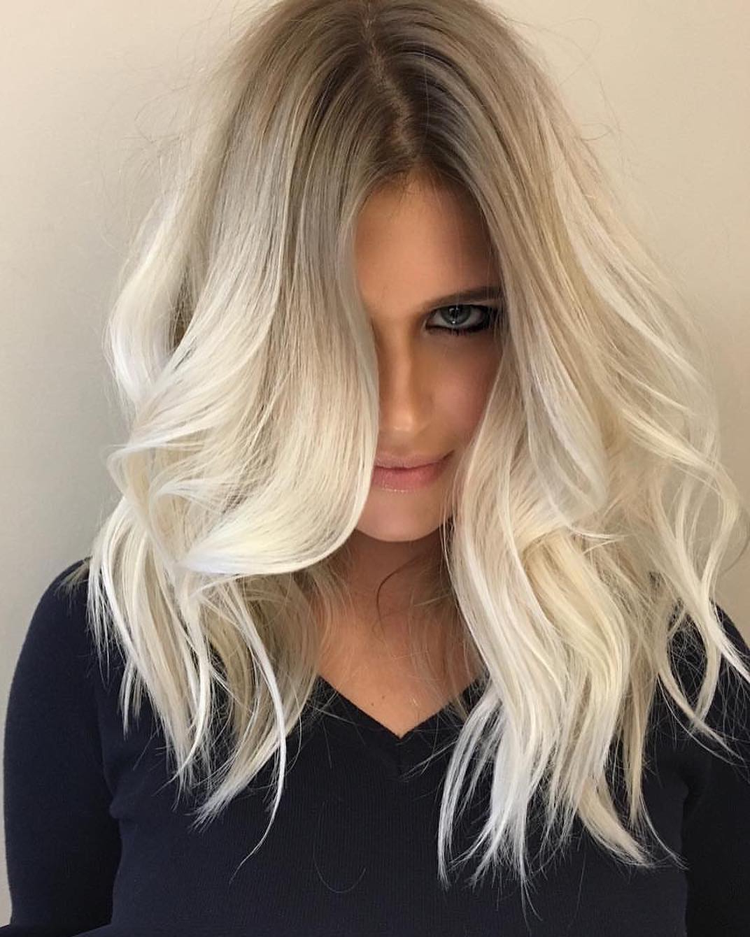 Most Recently Released Medium Haircuts For Grey Haired Woman With 10 Cute Medium Hairstyles With Gorgeous Color Twists – Medium (View 13 of 20)
