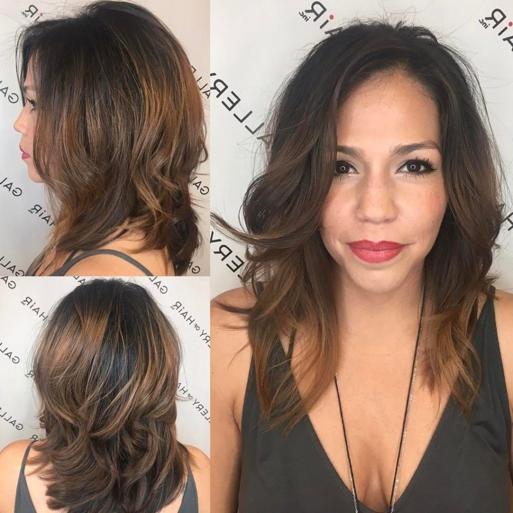 Most Recently Released Medium Haircuts For Voluminous Hair Inside Women's Layered Cut With Voluminous Blowout And Brunette Balayage (View 17 of 20)