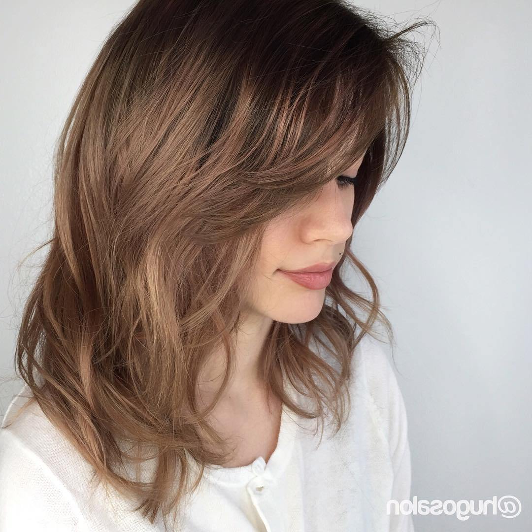 Most Recently Released Medium Haircuts Layers And Side Bangs With Regard To Layered Haircuts – 32 Beautiful Medium Layered Haircuts (View 15 of 20)