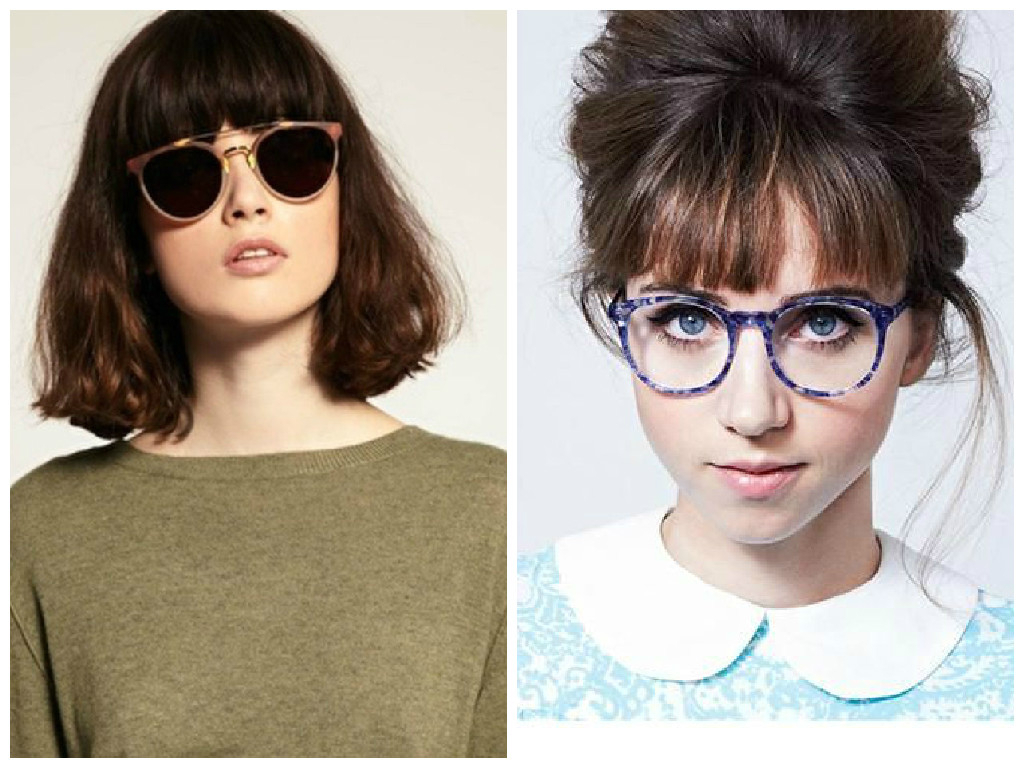 Most Recently Released Medium Haircuts With Bangs And Glasses With Regard To Bangs And Glasses Hairstyle Ideas – Hair World Magazine (View 5 of 20)