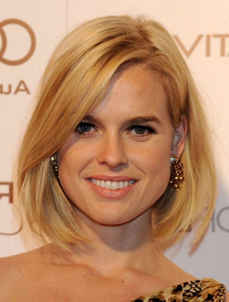 Most Recently Released Medium Hairstyles For Thin Hair And Round Faces Within Long Bob Hairstyles Inspiredcelebrities (View 7 of 20)