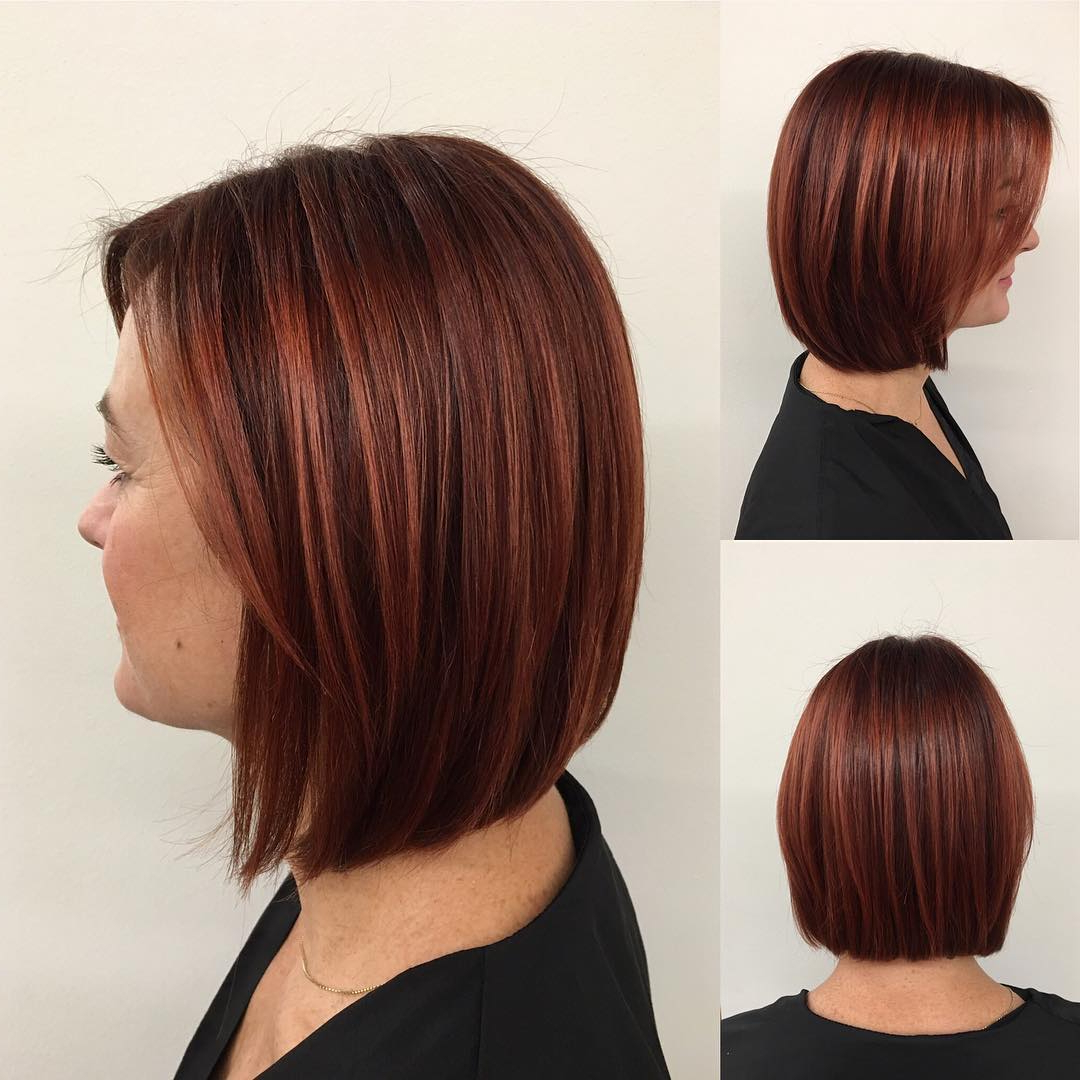 [%Most Recently Released Medium Hairstyles With Red Highlights For 30 Edgy Medium Length Haircuts For Thick Hair [October, 2018]|30 Edgy Medium Length Haircuts For Thick Hair [October, 2018] With Best And Newest Medium Hairstyles With Red Highlights%] (View 1 of 20)