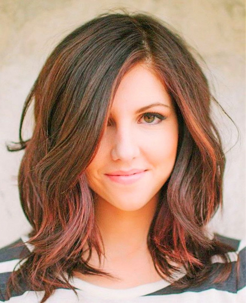 Most Recently Released Mid Length Haircuts With Side Layers In Medium Hairstyle : Cute Medium Length Hairstyle Pinterest Hairstyles (View 13 of 20)
