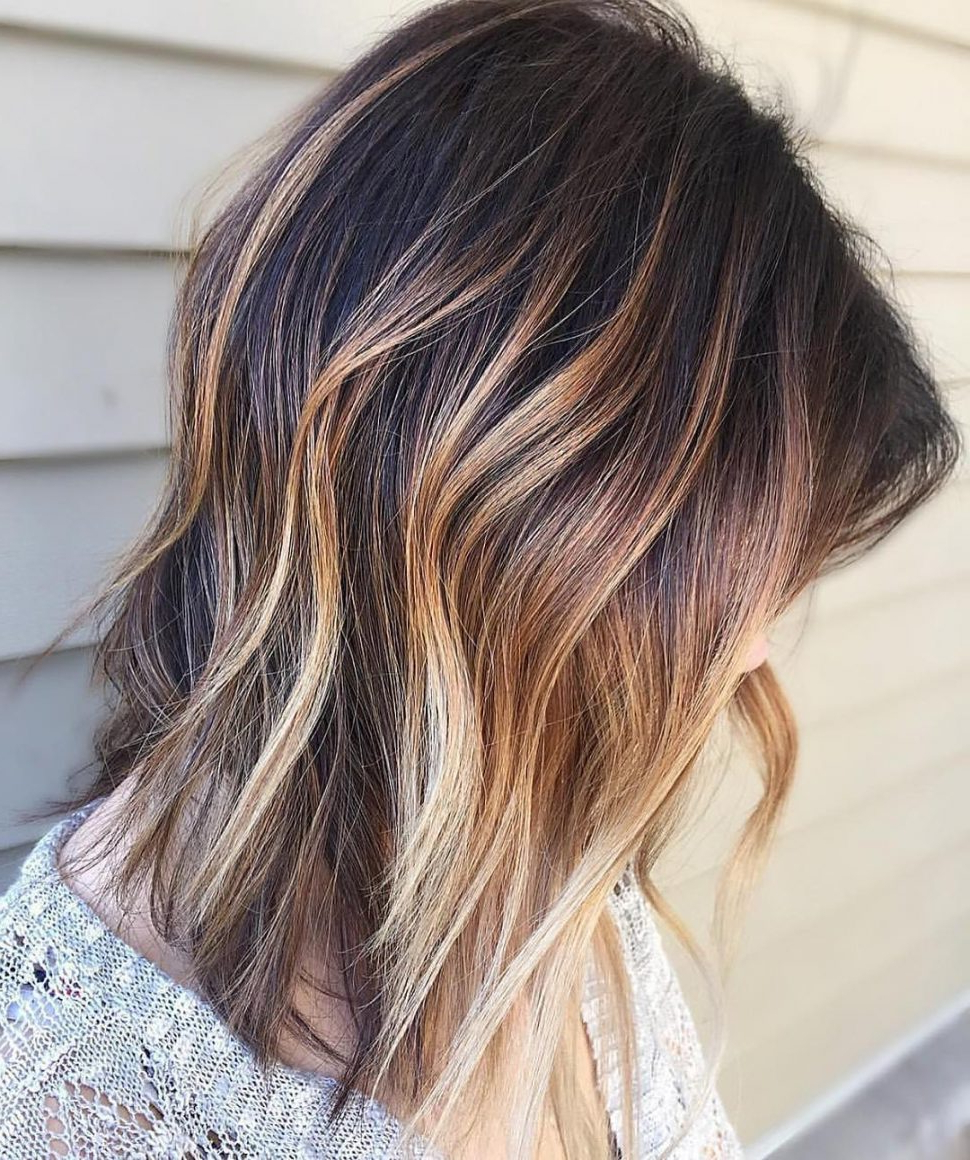 Most Recently Released Ombre Medium Hairstyles In Hair Color : Blonde Ombre Medium Hair Platinum Length Dirty Red And (View 9 of 20)