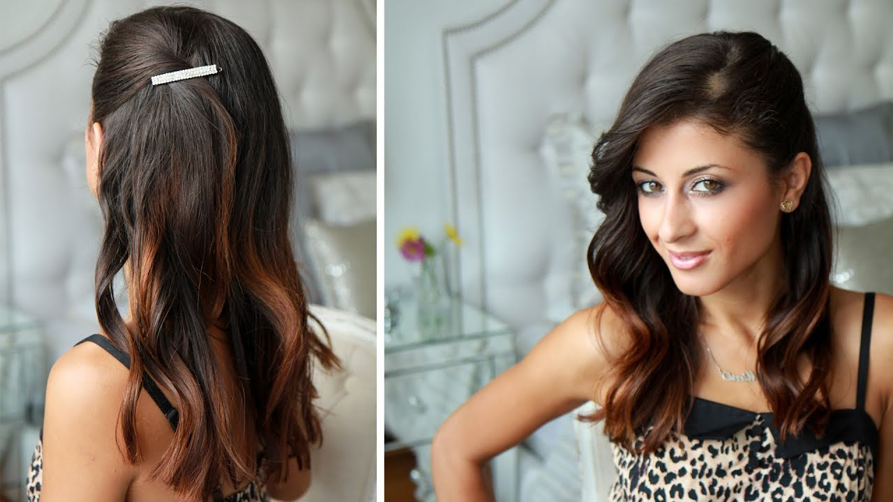 Most Recently Released One Side Medium Hairstyles With Celebrity Side Pinned Hairstyle – Youtube (View 13 of 20)