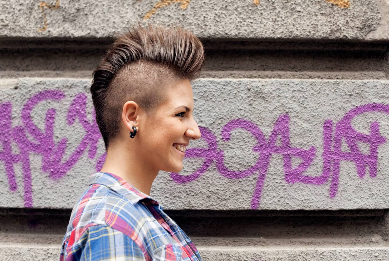 Most Recently Released Pink And Purple Mohawk Hairstyles Intended For 8 Fashionable Mohawk Hairstyles For Women: From Haute To Head Turning (View 12 of 20)