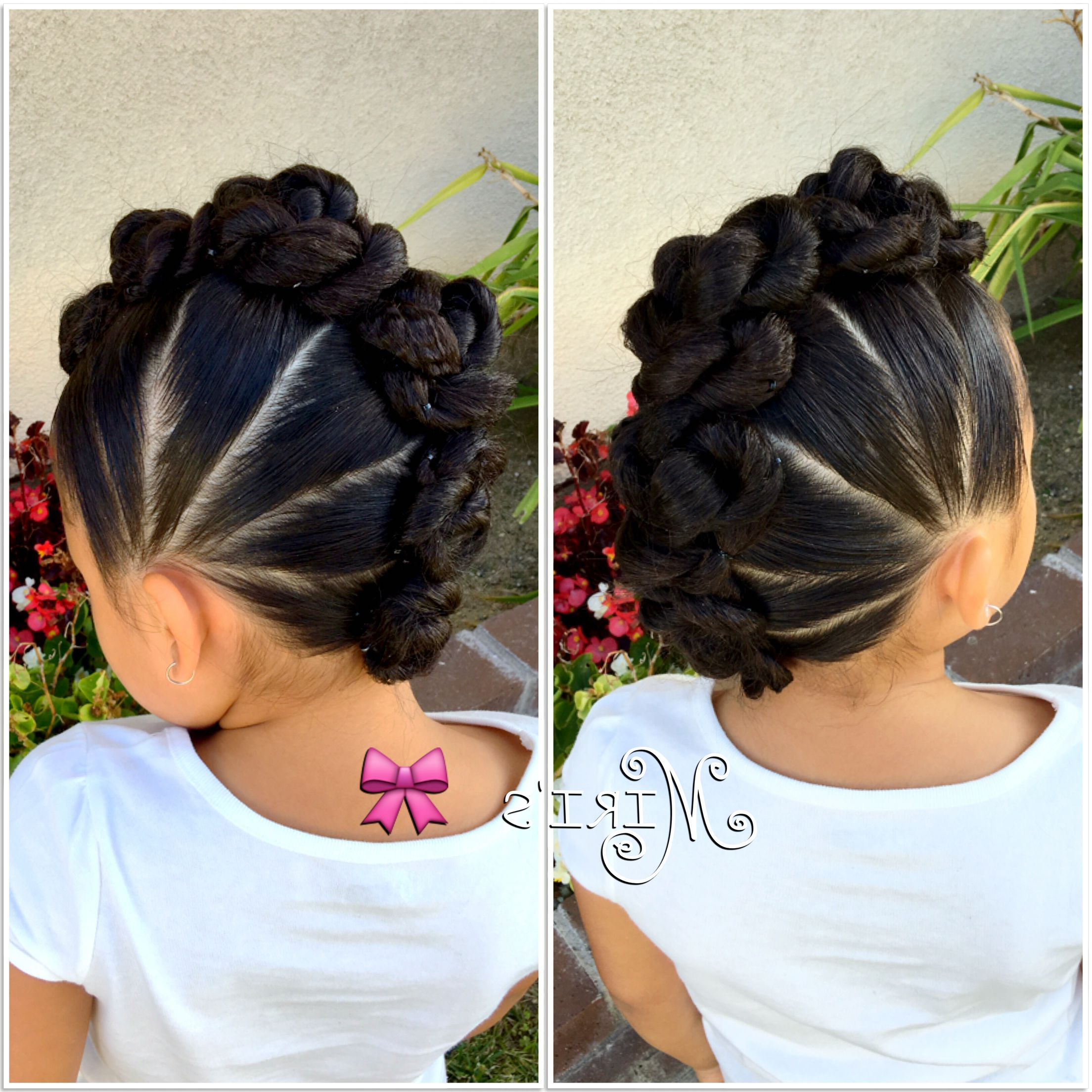 Most Recently Released Stunning Silver Mohawk Hairstyles Intended For Mohawk With Twists Hair Style For Little Girls (View 14 of 20)