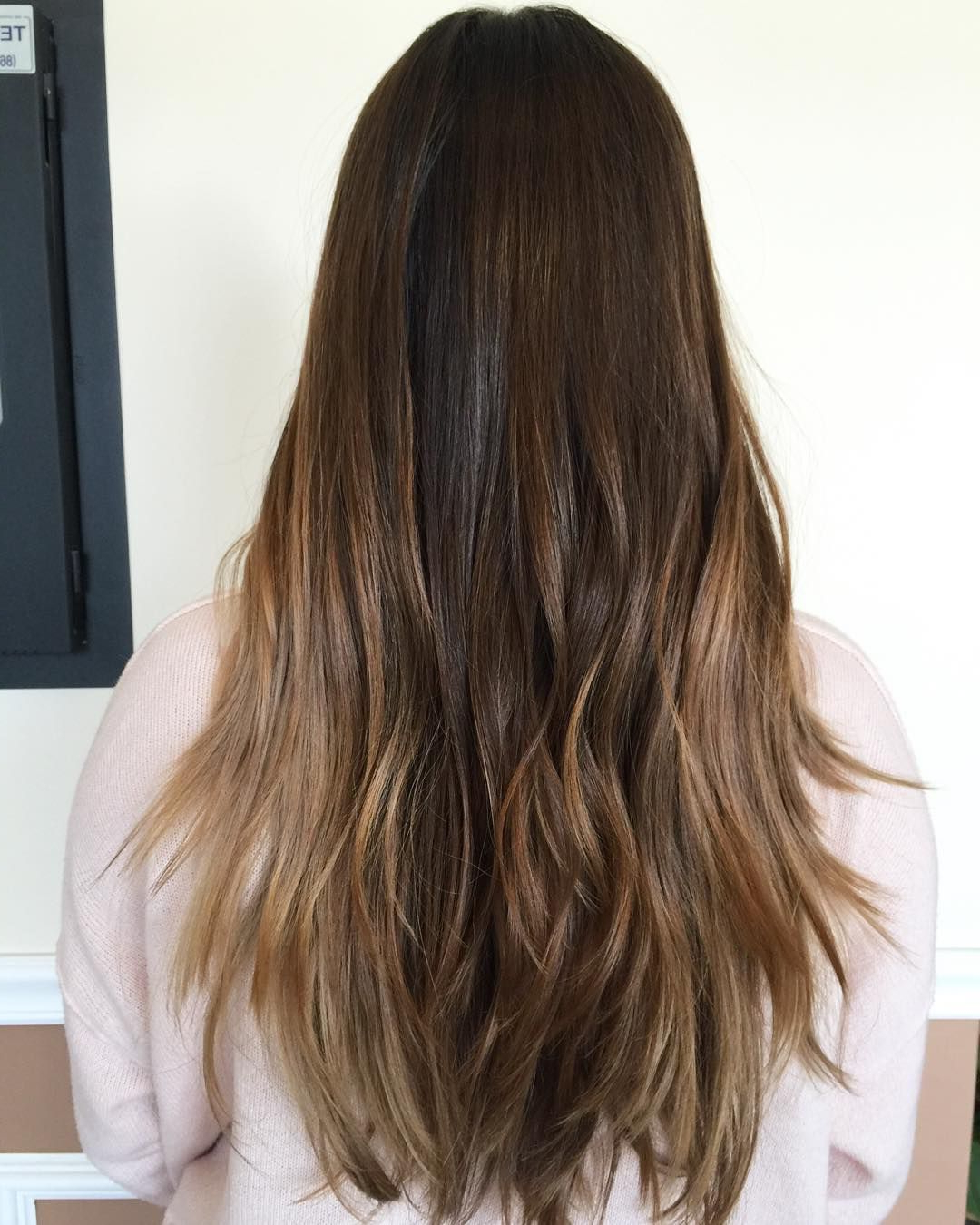 Most Up To Date Caramel Lob Hairstyles With Delicate Layers Intended For 60 Balayage Hair Color Ideas With Blonde, Brown, Caramel And Red (View 16 of 20)