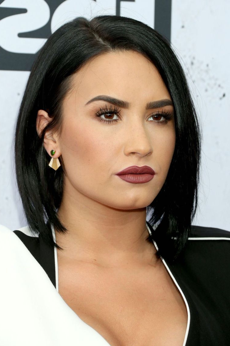 Most Up To Date Demi Lovato Medium Hairstyles Throughout Demi Lovato At The Iheartradio Music Awards – April 3rd (View 3 of 20)