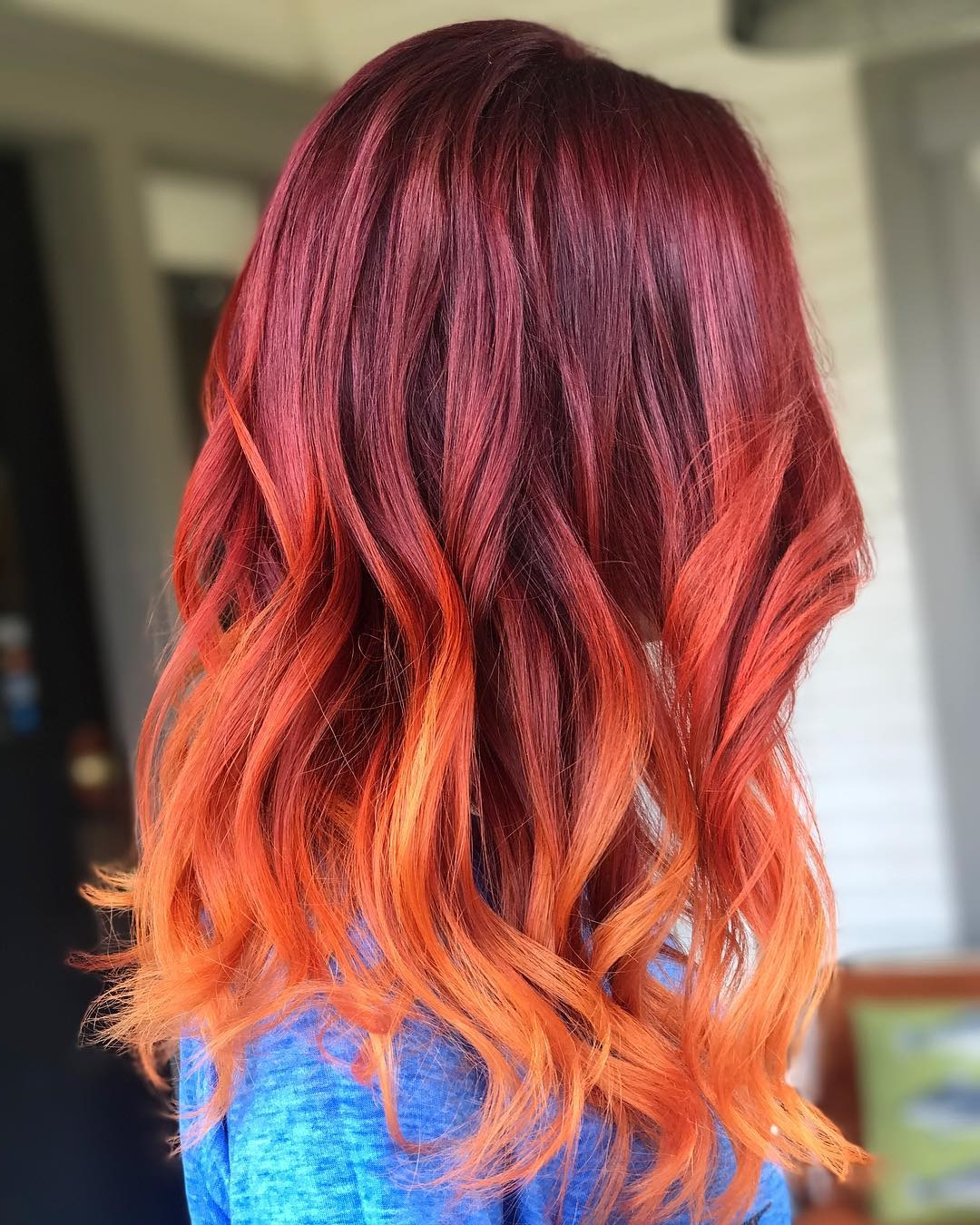 Most Up To Date Fire Red Medium Hairstyles With 20 Radical Styling Ideas For Your Red Ombre Hair (View 18 of 20)