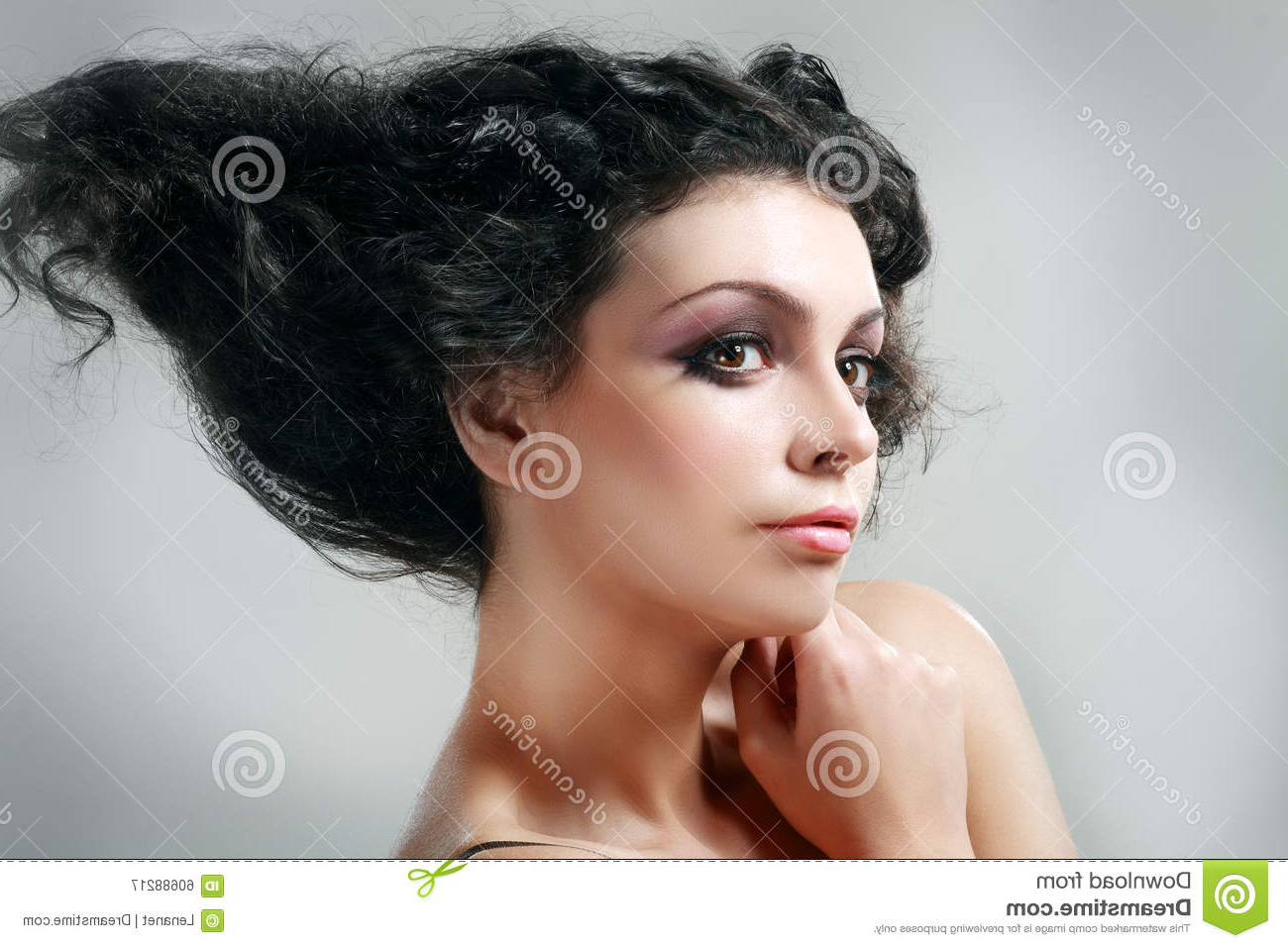 Most Up To Date Glamorous Mohawk Updo Hairstyles Throughout Updo Hairstyle Stock Image (View 16 of 20)