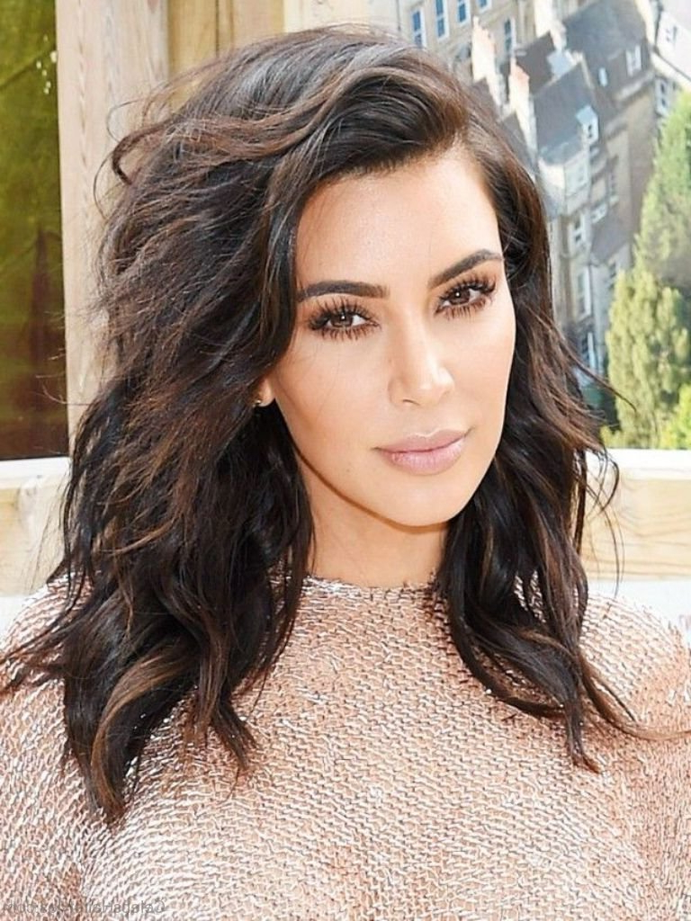 Most Up To Date Kim Kardashian Medium Haircuts Inside 24 Pretty Hairstyles Of Kim Kardashian (View 8 of 20)