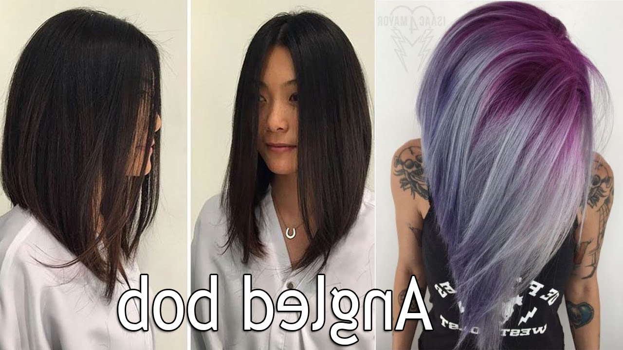 Most Up To Date Medium Angled Purple Bob Hairstyles With Regard To Long Angled Bob Haircut! Long Bob Haircuts For Women I Angled (View 7 of 20)