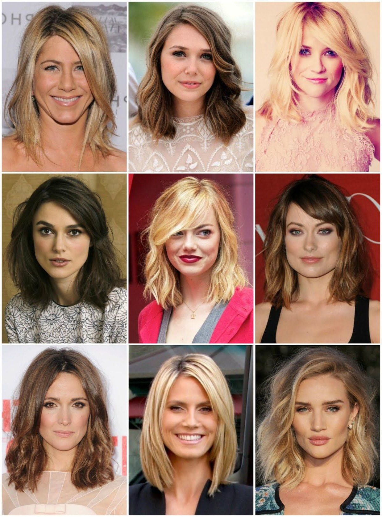 "[%Most Up To Date Medium Haircuts For A Square Face Shape Inside Jan Marie — [[More]] Note To Self: The ""Clavicut""–A Long Bob