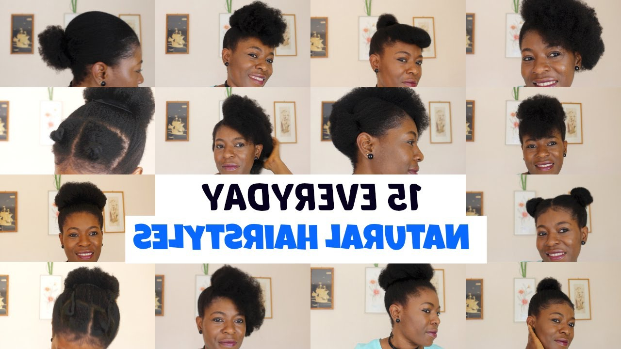Most Up To Date Medium Haircuts For Natural Hair Black Women Regarding 15 Easy Hairstyles For Black Women I Short/medium Hair–//neknatural (View 12 of 20)