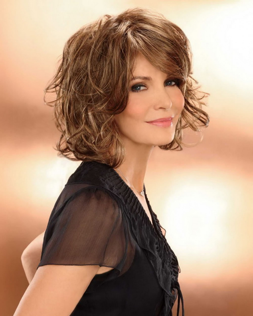 Most Up To Date Medium Haircuts For Older Women With Trendy Wavy & Curly Haircuts For Older Women – Short, Medium And (View 12 of 20)