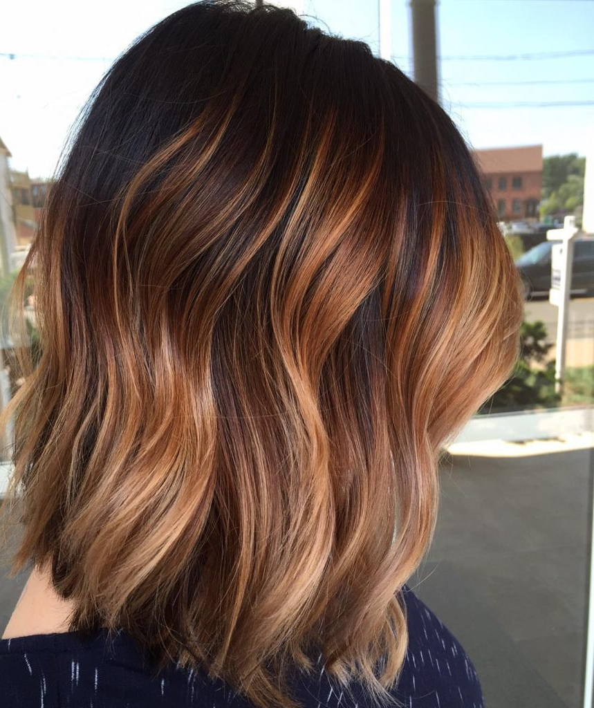 Most Up To Date Medium Haircuts With Fiery Ombre Layers With Luscious Trends: Fall In Love With These Ombre Colors For Medium (View 14 of 20)