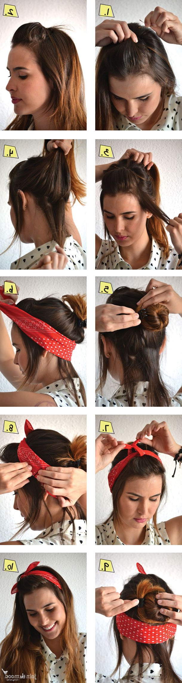 Most Up To Date Medium Hairstyles With Bandanas In 14 Tutorials For Bandana Hairstyles – Pretty Designs (View 13 of 20)
