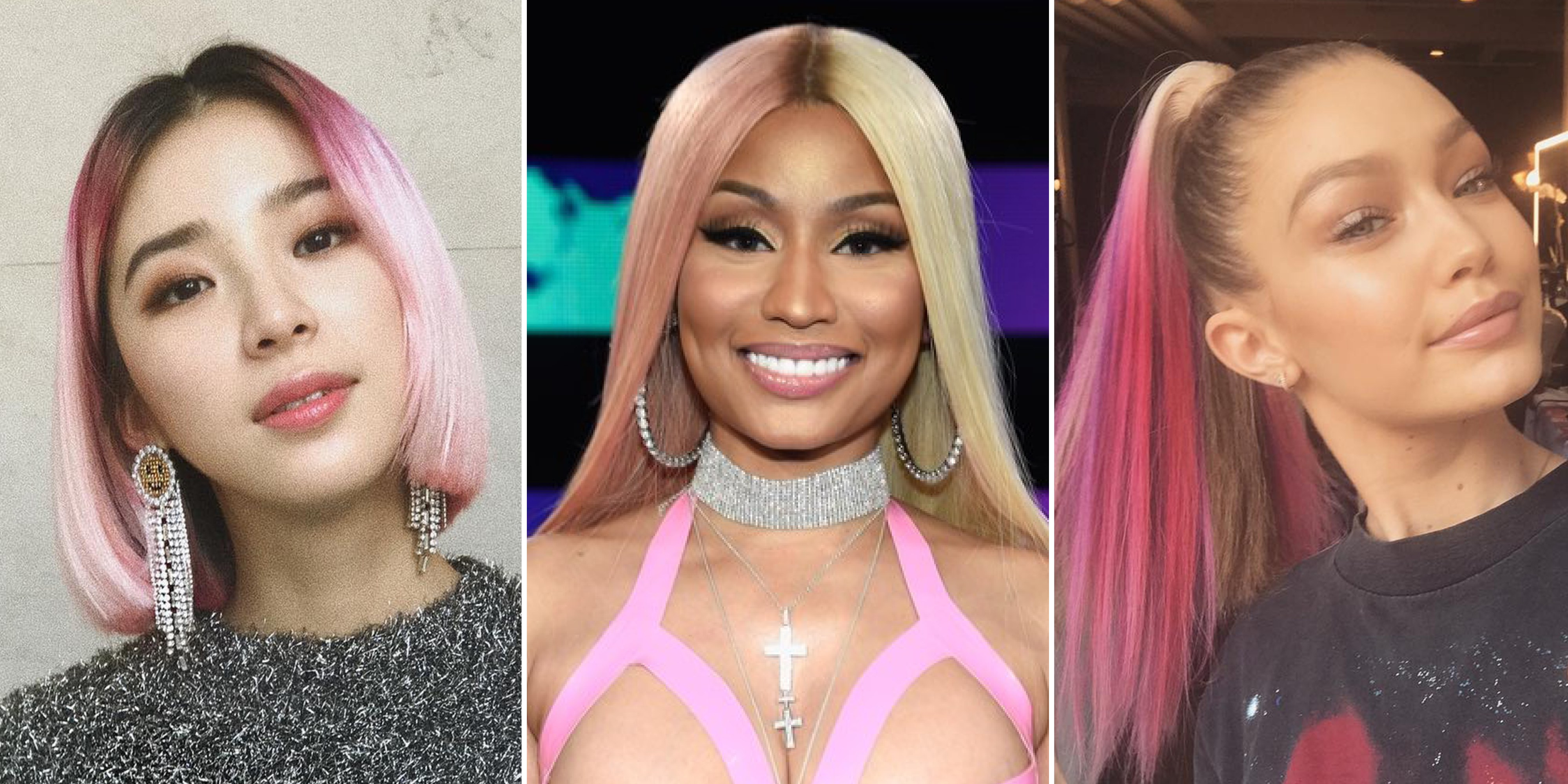 Most Up To Date Pinks Medium Haircuts Intended For 29 Pink Hair Color Ideas, From Pastel To Rose Gold – Allure (Gallery 17 of 20)