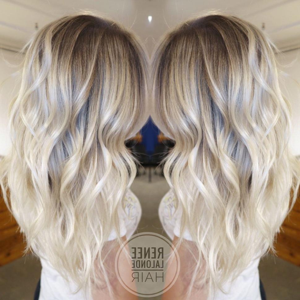 Most Up To Date Platinum Blonde Medium Hairstyles Throughout Women Hairstyle : Platinum Blonde Hairstyles Balayage Long Hair (View 10 of 20)
