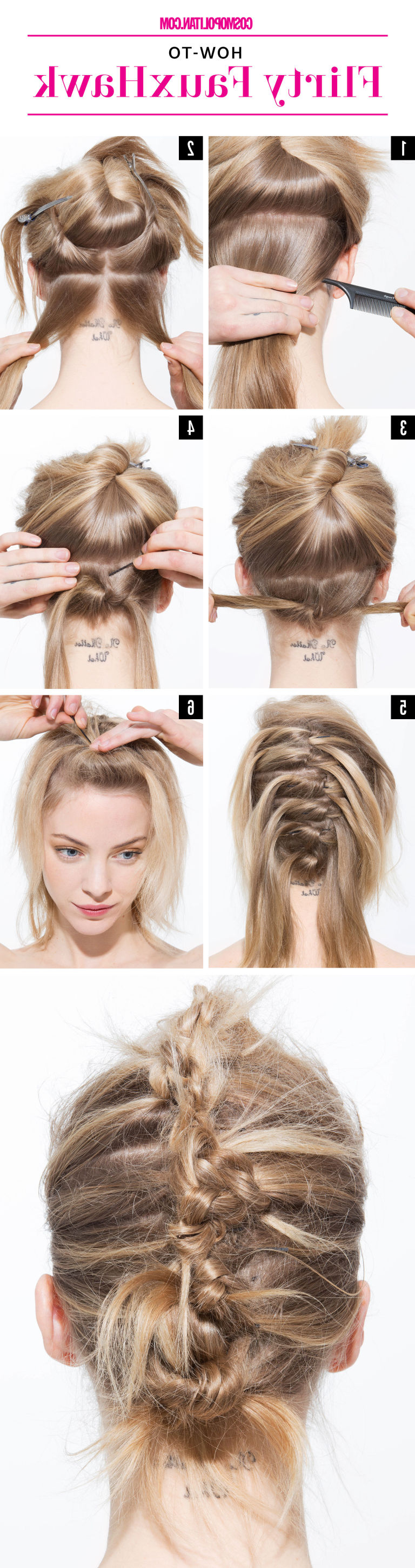 Most Up To Date Unique Updo Faux Hawk Hairstyles Pertaining To 4 Last Minute Diy Evening Hairstyles That Will Leave You Looking Hot (View 11 of 20)