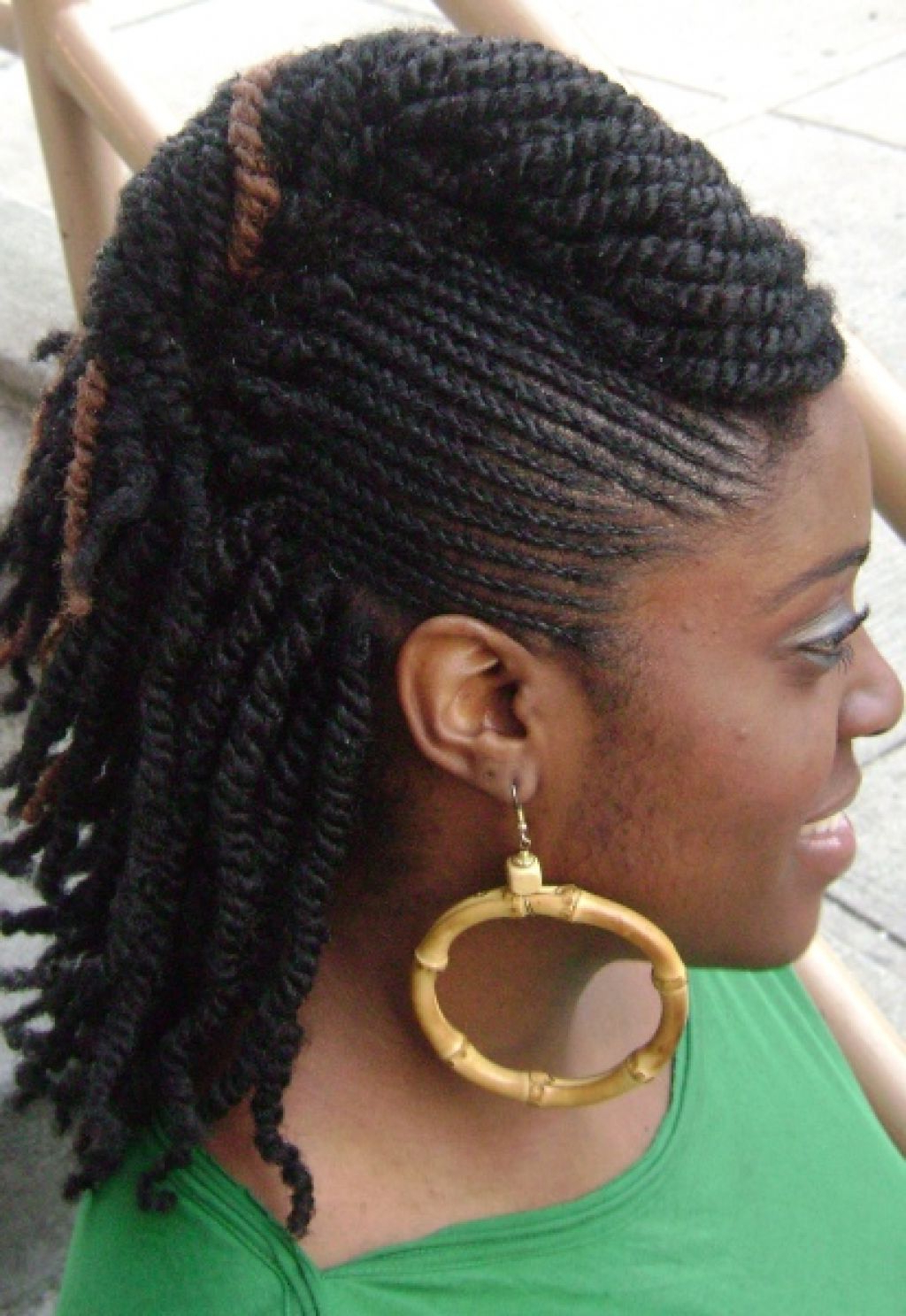 Natural Kinky Twist Updo Hairstyle : Divine Kinky Twist Updo Throughout Trendy Divine Mohawk Like Updo Hairstyles (View 15 of 20)