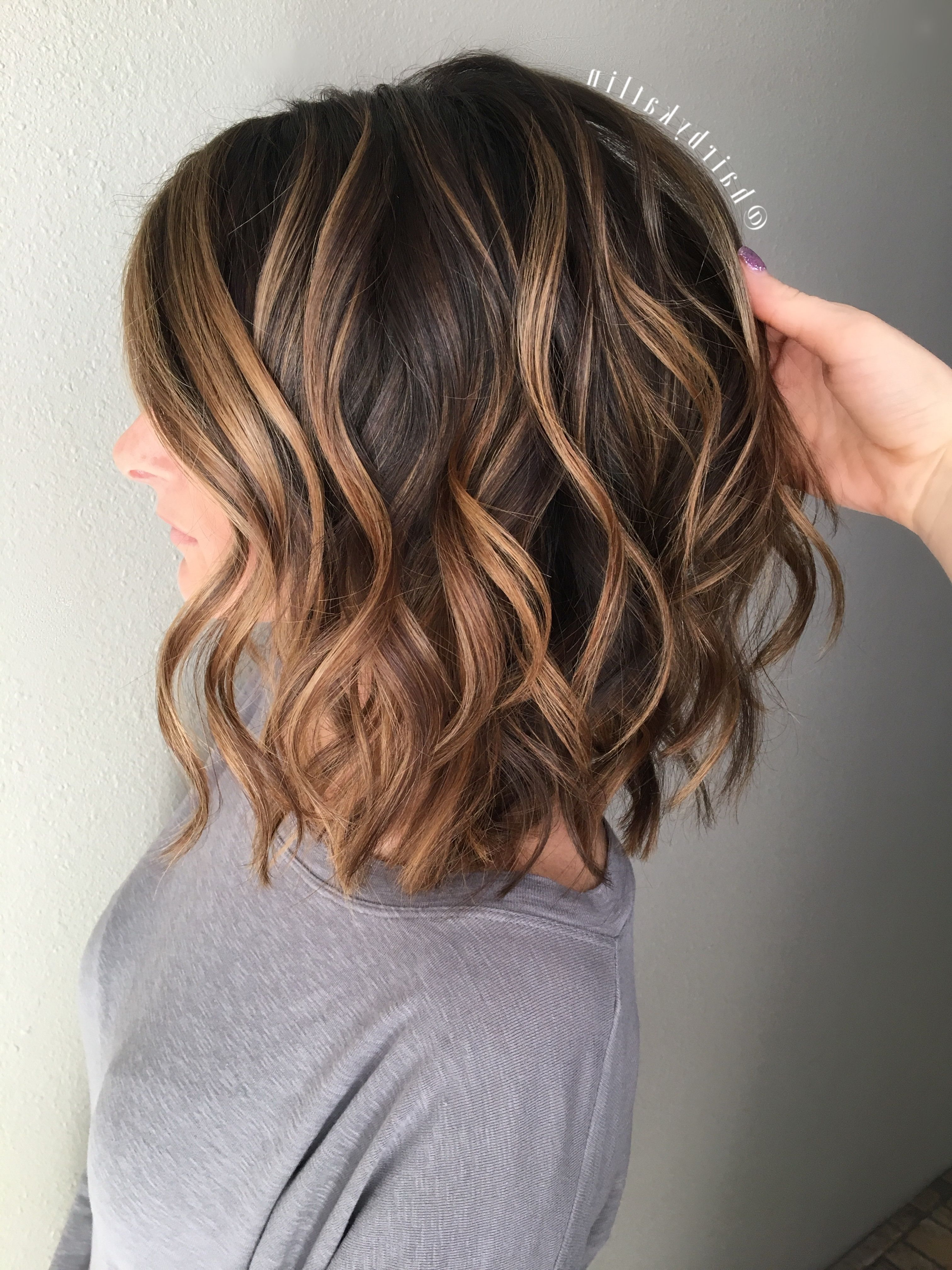 Natural Pertaining To Well Known Caramel Lob Hairstyles With Delicate Layers (View 17 of 20)