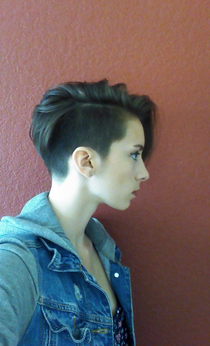 Newest Bleached Feminine Mohawk Hairstyles With Regard To Got An Undercut Pixie!! I Looove It! (View 13 of 20)