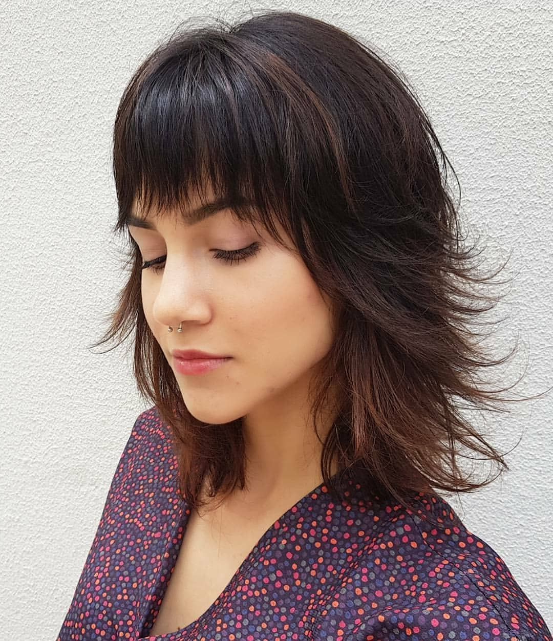 Newest Cute Medium Hairstyles With Bangs In Super Cute And Easy Medium Hairstyles For Women 2018, Medium Hair (View 15 of 20)