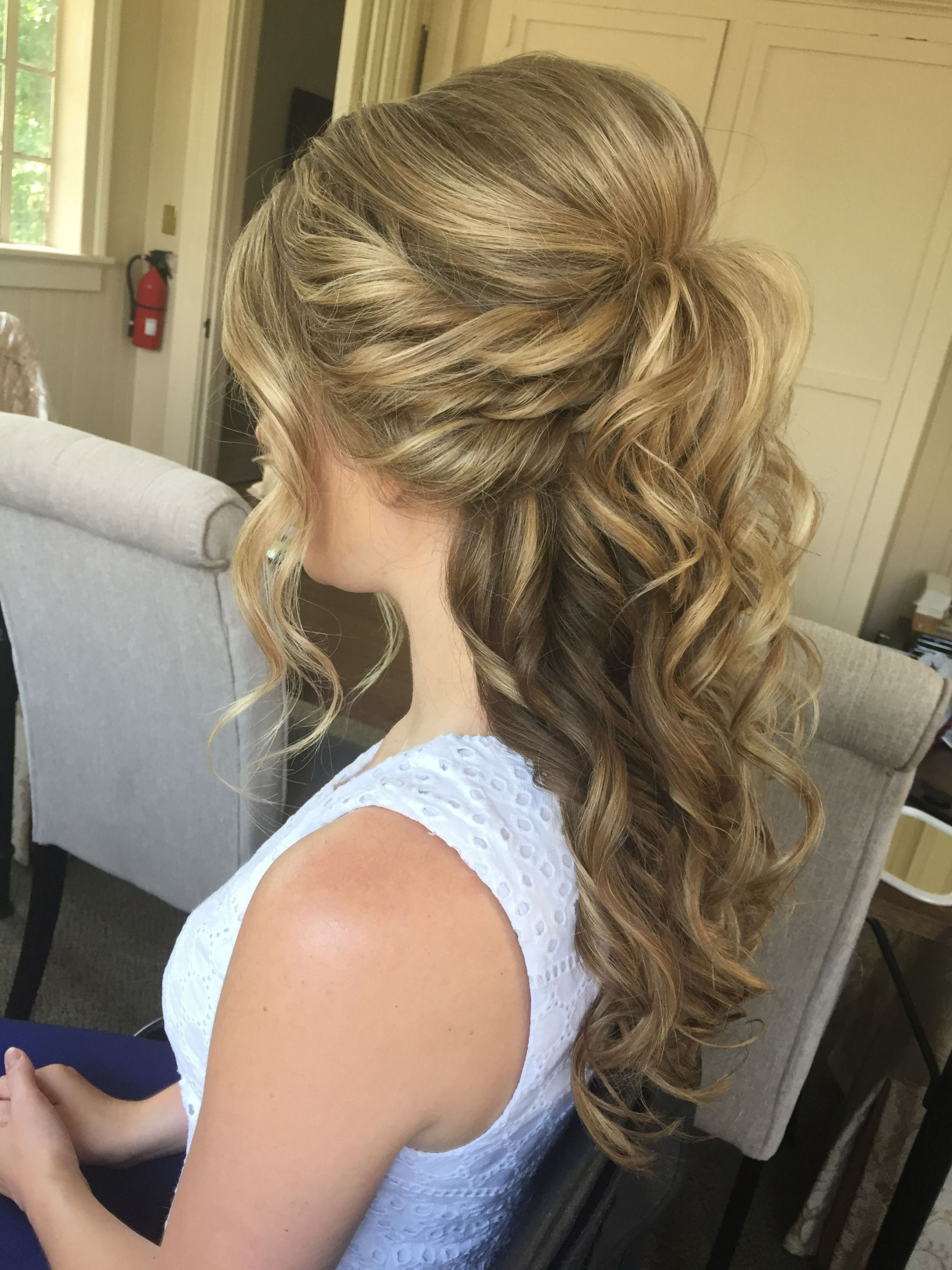 Newest Down Medium Hairstyles Regarding Image Result For Wedding Hairstyles Half Up Half Down Medium Length (View 3 of 20)
