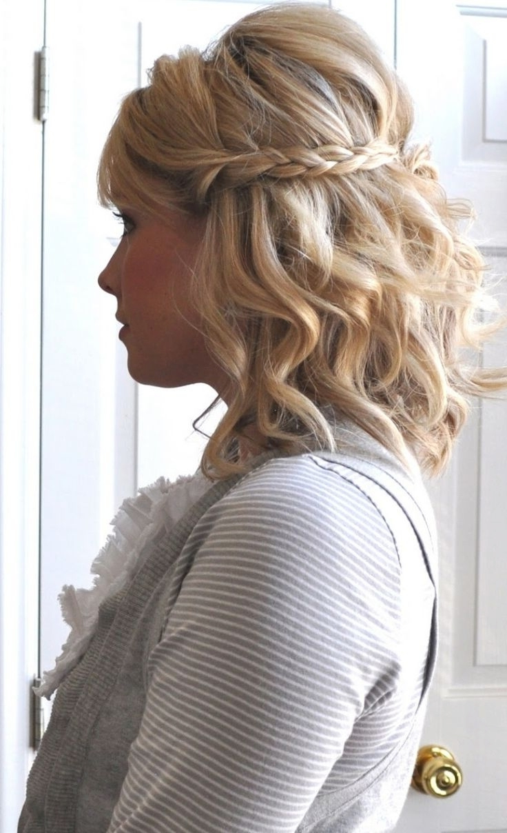 Newest Half Short Half Medium Hairstyles With Regard To Wedding Hairstyle : Wedding Styles Hair Style Half Up Hairstyles For (View 12 of 20)