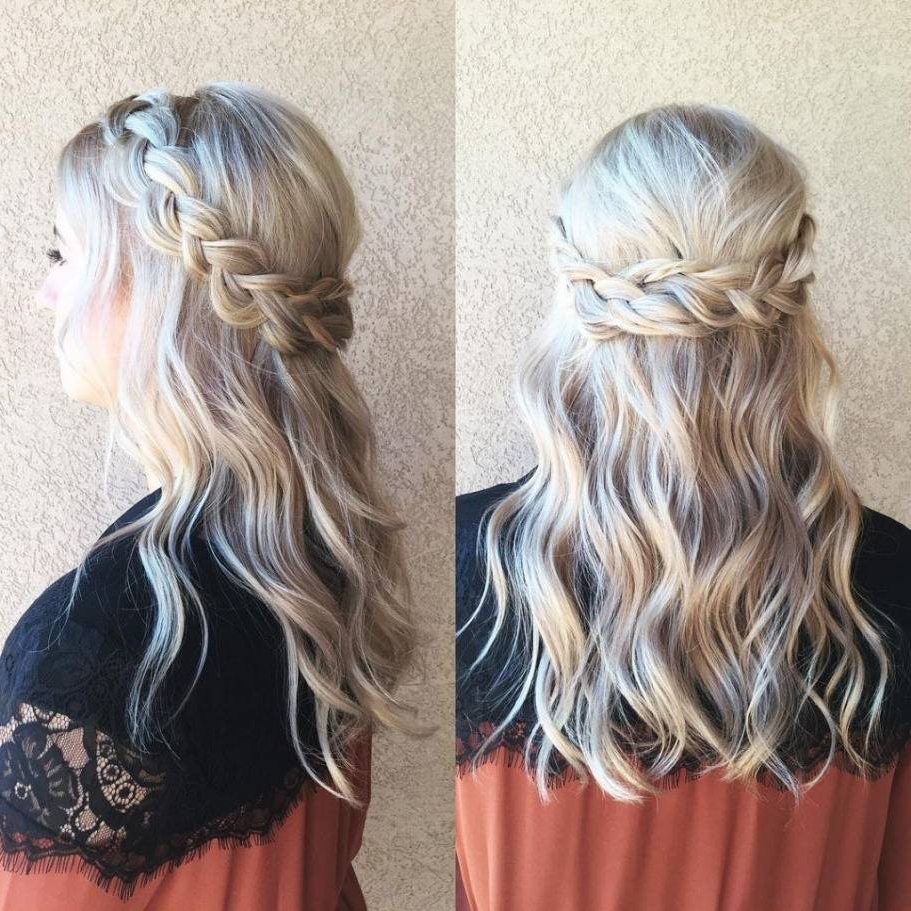 Newest Half Up Half Down Medium Hairstyles For Half Up Half Down Hairstyles Cool 70 Easy Semi Formal Hairstyles For (View 13 of 20)