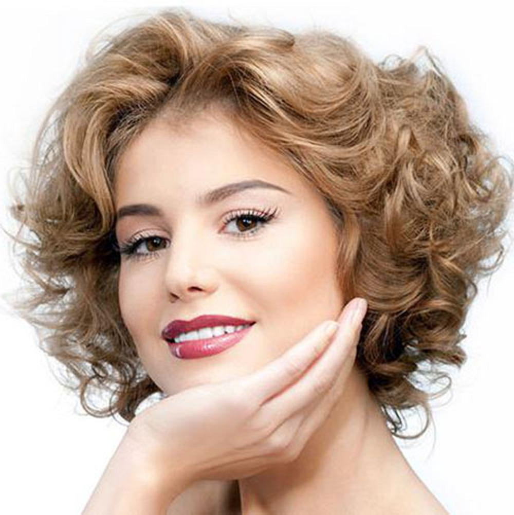 Newest Medium Haircuts For Thick Curly Frizzy Hair Throughout Hair Color : Cute Short Haircuts For Thick Hair Wavy Hairstyles (View 10 of 20)