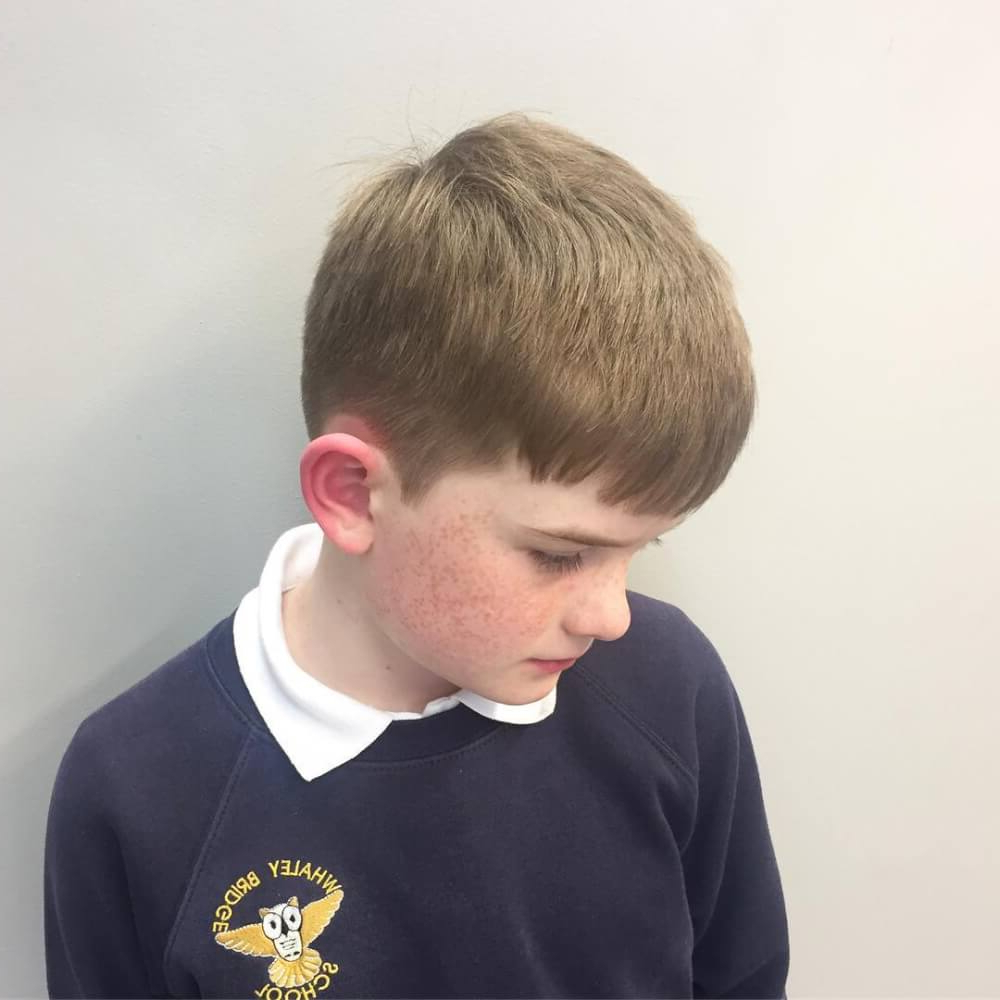 Newest Medium Haircuts With Swoop Bangs Within 31 Cute Boys Haircuts 2019: Fades, Pomps, Lines & More (View 14 of 20)