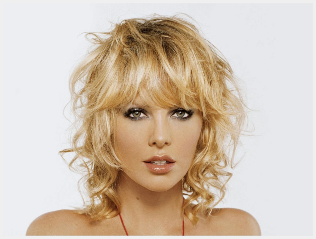 Newest Medium Hairstyles For Thin Curly Hair With Regard To Medium Length Hairstyles Fine Straight Hair — Classic Style : Short (View 15 of 20)