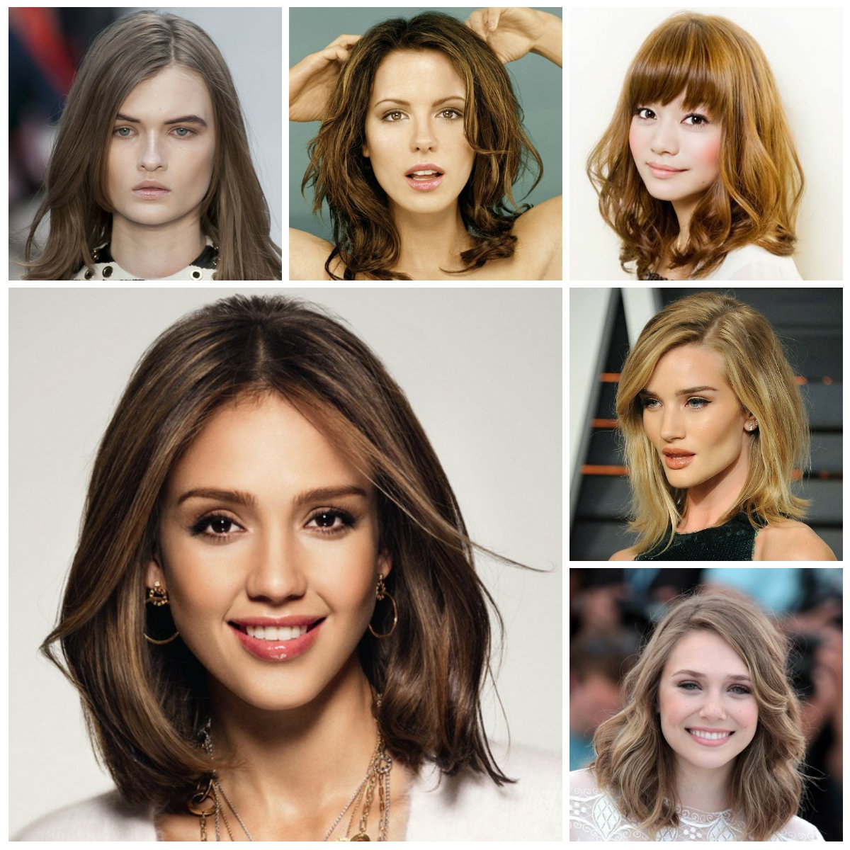 Newest New Medium Hairstyles Within Women Hairstyle : Shoulder Length With Layers For Thick Hair Oval (View 15 of 20)