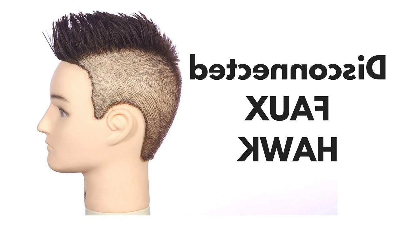 Newest Platinum Fauxhawk Haircuts Regarding Disconnected Faux Hawk – Thesalonguy – Youtube (View 12 of 20)