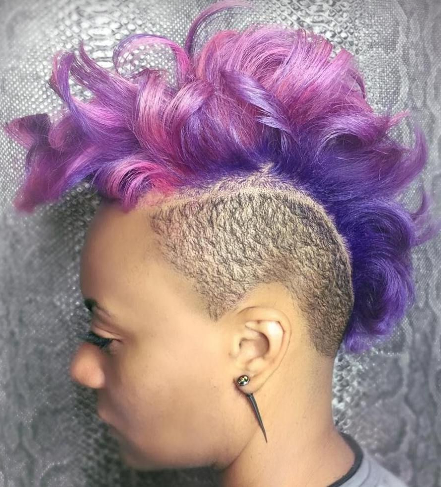 Newest Purple Rain Lady Mohawk Hairstyles Intended For 50 Most Captivating African American Short Hairstyles (View 13 of 20)