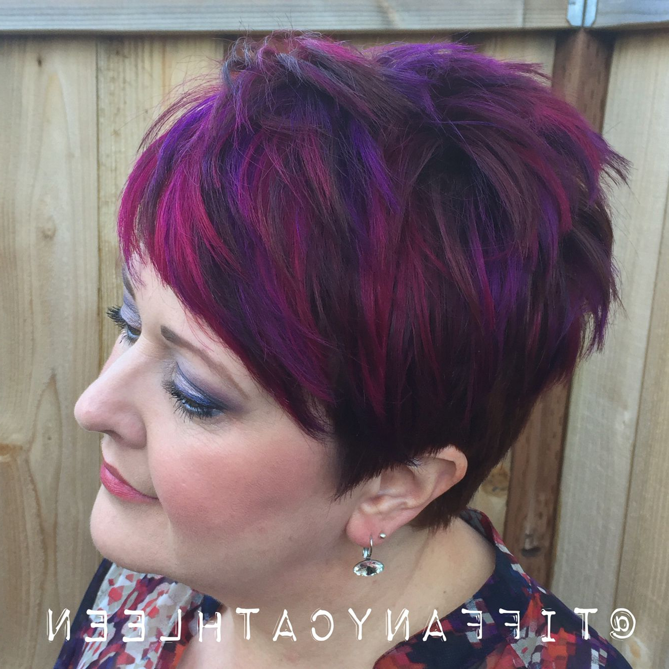 Featured Photo of Spiky Mohawk Hairstyles With Pink Peekaboo Streaks