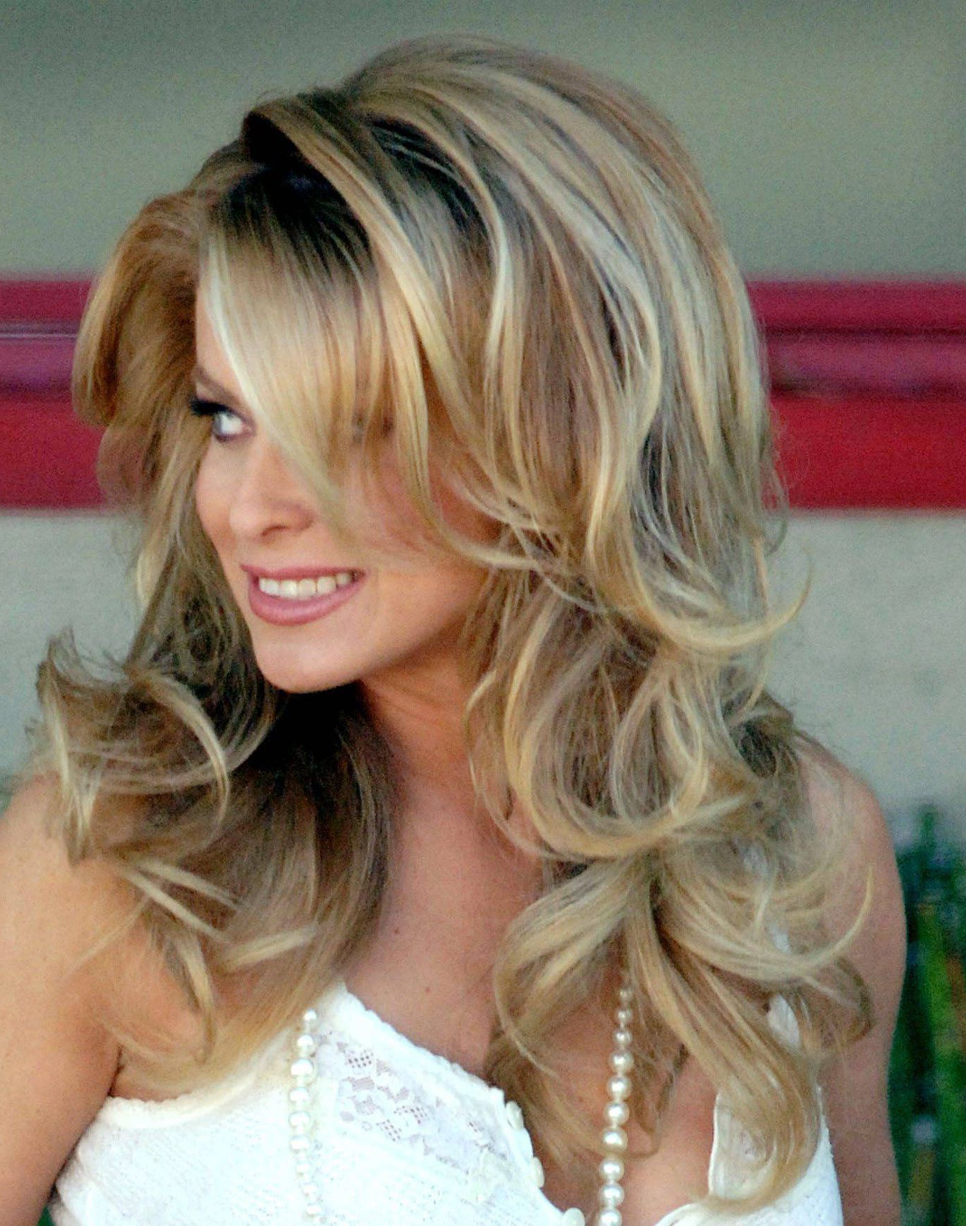 Newest Teased Medium Hairstyles With Big Teased Hair Carmen Electra (View 10 of 20)