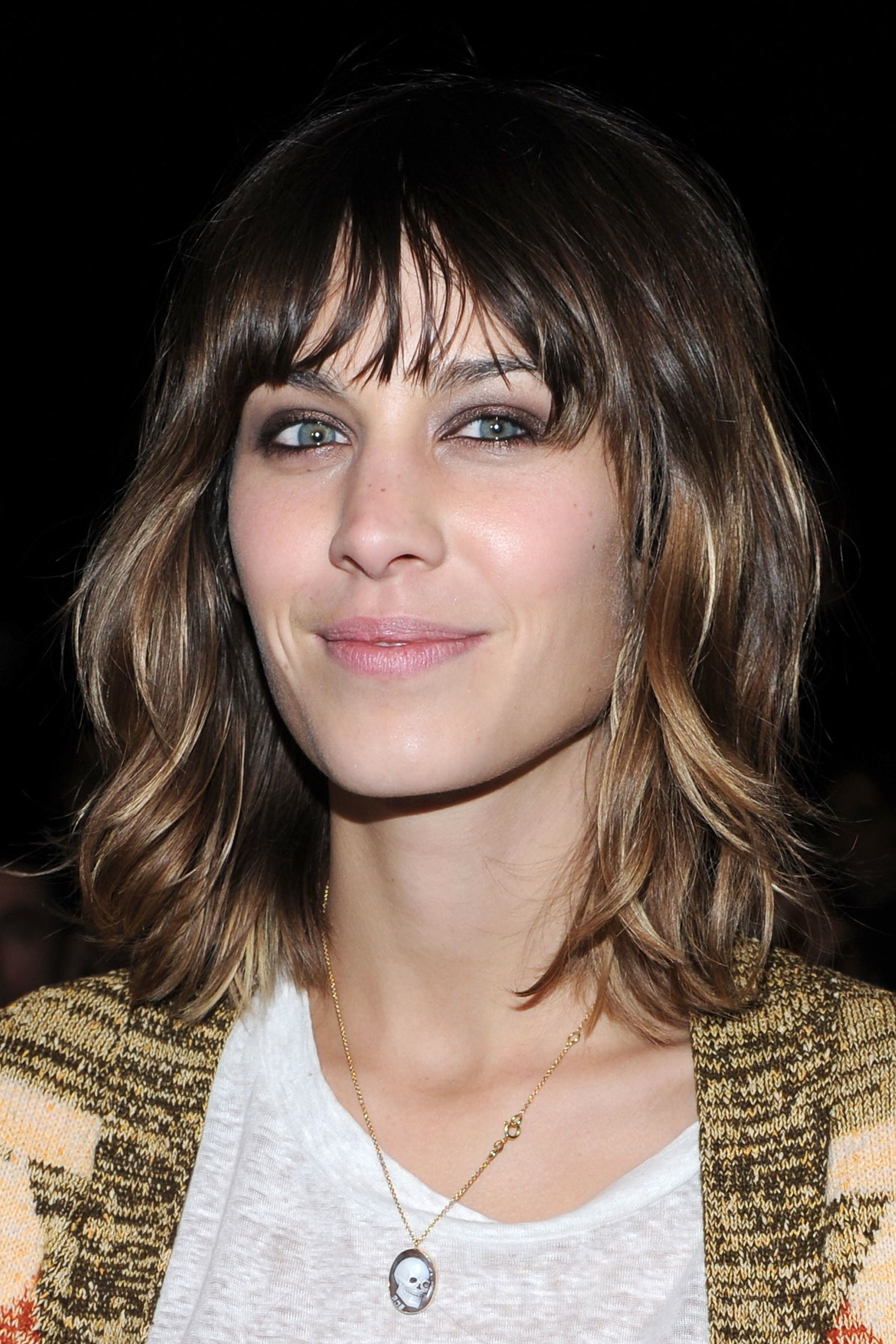 Photos Of Alexa Chung's Best Hairstyles Pertaining To Well Known Medium Golden Bronde Shag Hairstyles (View 17 of 20)
