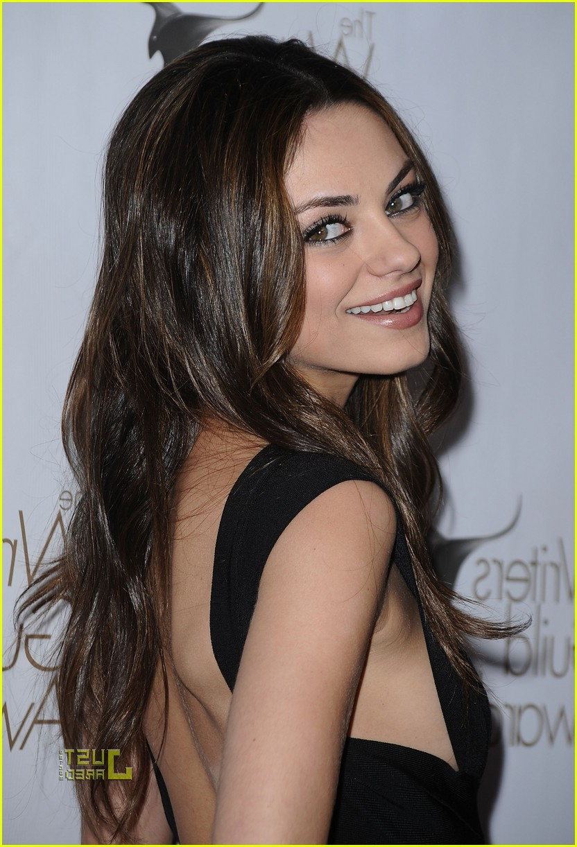 Picture Gallery: Mila Kunis Medium Hairstyle Remy Human Hair Custom Within Favorite Mila Kunis Medium Hairstyles (View 14 of 20)