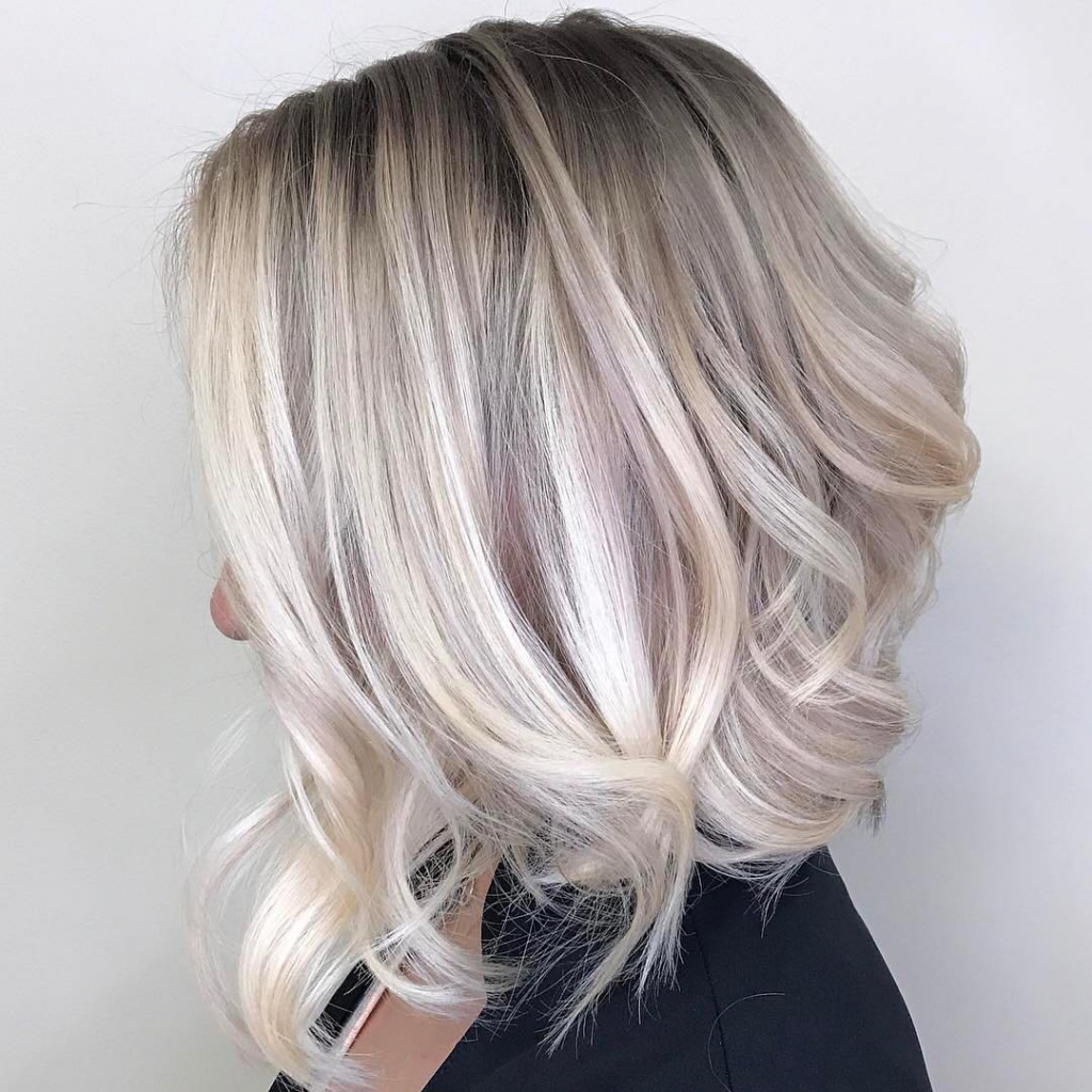 Picture Of Medium Blonde Ombre Hairstyles Fashionbeans (View 15 of 20)