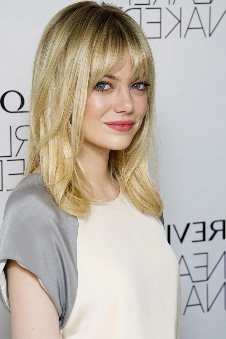 Pictures Of Medium Length Haircut With Bangs Medium Length Haircuts Throughout Fashionable Medium Haircuts With Straight Bangs (View 16 of 20)