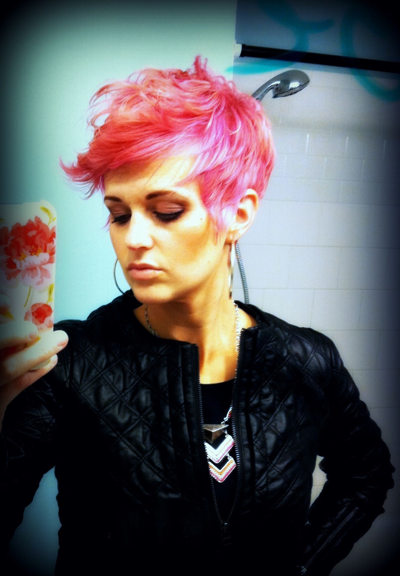 Pink Short Hair (View 13 of 20)