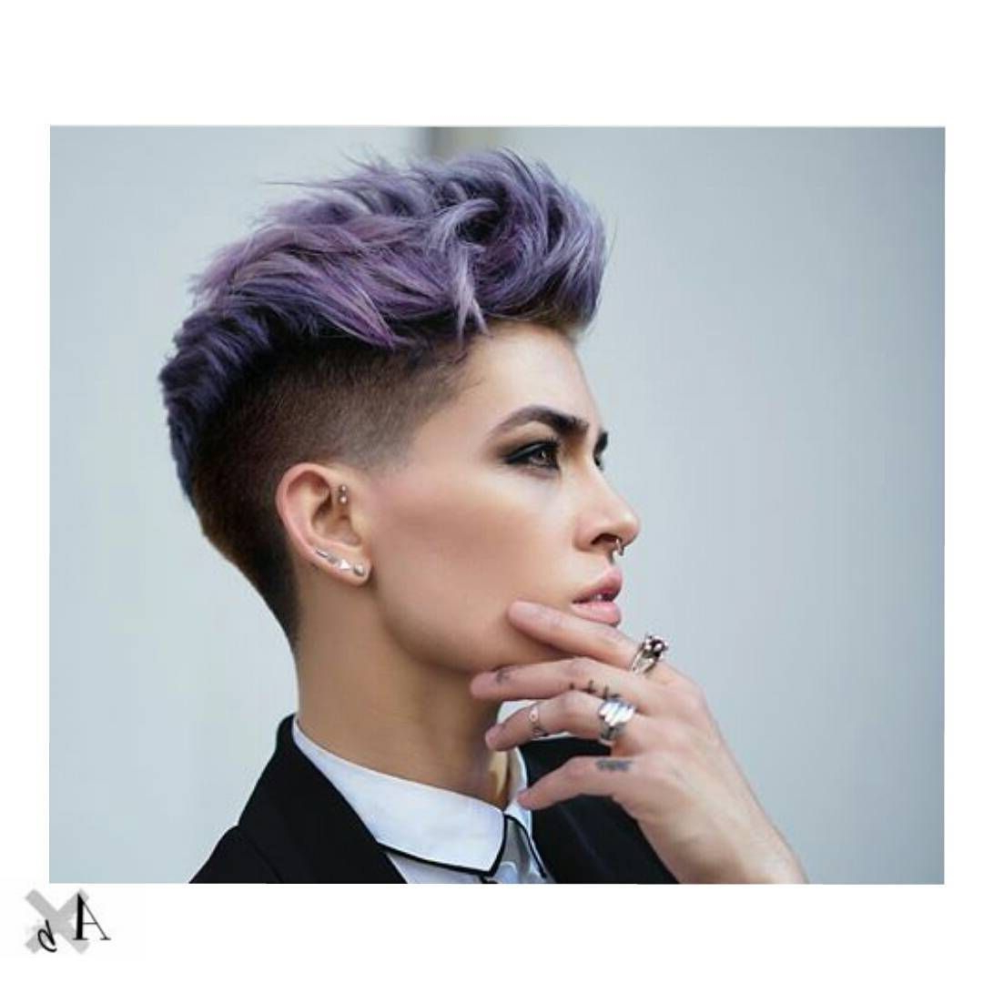 Pinte… For Newest Extravagant Purple Mohawk Hairstyles (View 17 of 20)