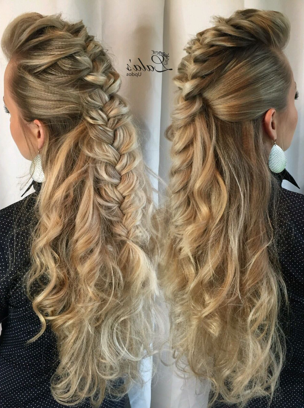 Pinte… Pertaining To Popular Messy Fishtail Faux Hawk Hairstyles (View 4 of 20)
