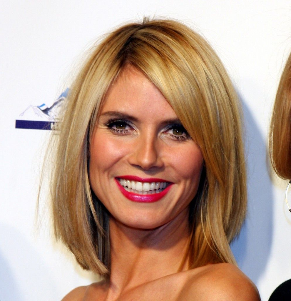 Featured Photo of Heidi Klum Medium Haircuts